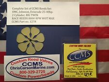 CCMS Johnson OMC Race Outboard Reed Valves 25-40HP 2 cylinder Big Twin PN127R