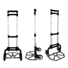 Push Hand Truck Moving Warehouse  Cart Folding Dolly Collapsible Trolley 170lbs