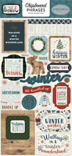 Carta Bella - Let It Snow Chipboard Phrases Stickers Die Cut 32 Pieces