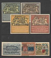 COLLECTION 210 DIFFERENT REUTERGELD GERMAN NOTGELD from Mecklenburg CPL