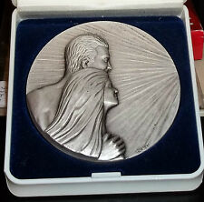 "Art Deco Pewter Medal by Drago ""The Couple"" 70mm Nice France"
