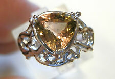 18 ct white gold natural watermelon tourmaline ring   4 carat gemstone