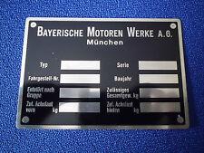 Targa Ì BMW Id-Piatto Segno 501 502 503 507 3200 Isetta 600 S57