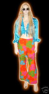 FANCY DRESS COSTUME * BLUE SATIN TIE TOP SMALL 10-12