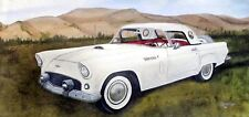 Auto 1956 WHITE T.BIRD  An Originial oil painting by Artist Orphie Barella