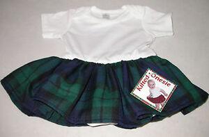 New Tartan Kilt One piece for Baby or Toddler Black Watch Tartan