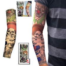 Joker & Skull Elastic Nylon Temporary Fake Tattoo Sleeves Mens Women Arm Sleeve