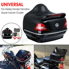 Motorcycle Trunk Tail Box W/ Taillight For Harley Honda Yamaha Suzuki Cruise AU