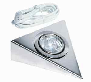 Dreieckleuchte -Küchenunterbauleuchte -Möbelleuchte, Halogen 12V edelstahl