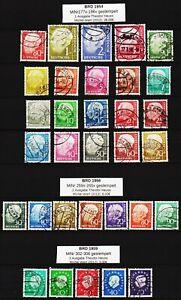 BRD 1954-1961  3 Ausgaben mit Bundespräsident Theodor Heuss ansehen