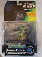 """ELECTRONIC F/X EMPEROR PALPATINE POTF Star Wars 3.75"""" 1997 Power of the Force"""