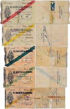 España - República Española- Año: 1936 - Nº 00403/07 - 5-10-25-50 y 100pts RC