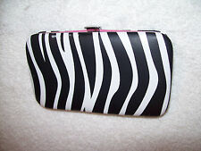 LOT # 781 LADIES BILLFOLD/CONTACT LENS CASE 4 3/4 x 2 3/4 INCHES ZEBRA PATTERN