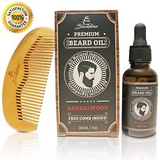 Blackstone Naturals Sandalwood Beard Oil Kit - All Natural Beard and Mustache Co