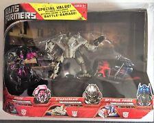 Sam's Club Transformers Battle Damage Optimus Arcee Starscream Set HUGE!! NEW!