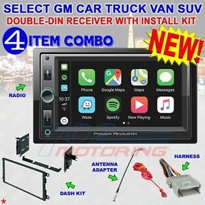 GMC SIERRA SAVANA APPLE CARPLAY POWER ACOUSTIK BT Bluetooth USB Car Stereo Radio