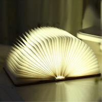 Couleur Pliable Livre Lampe LED Nuit Éclairage Veilleuse Bureau Table Décor USB