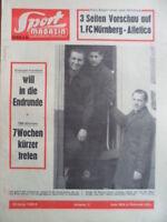 SPORT MAGAZIN KICKER 15 B - 10.4. 1963 Vorschau Nürnberg-Atletico Morlock Wabra