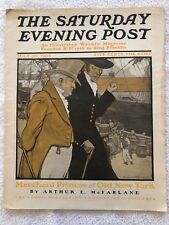 Illustrated  Saturday Evening Post July 30th 1904 Emlen McConnell Cover  Art