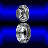 Chrome big block Chevy 2 pulley set short water pump and crankshaft 396 427 454