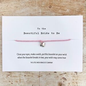 For the Bride to Be Congratulations Wish Card & bracelet Mrs, Wedding, Gift idea