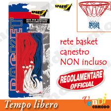 Rete canestro basket USA SPORT ONE Regolamentare 46 cm palla pallacanestro nylon