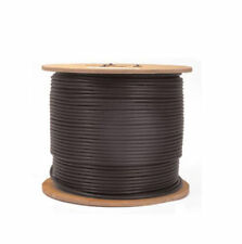 CAT6E 550MHz Outdoor Waterproof UV CMX Direct Burial Ethernet Cable Black 1000ft