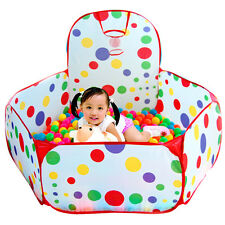Foldable Kids Game Play Child Toy Tent Portable Ocean Ball Pit Pool Basket Gift