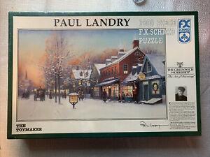 "Vintage FX Schmid Puzzle ""The Toy Maker"" Paul Landry 1000 Piece Still Sealed"