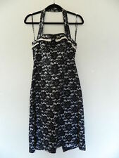 Pin Up Couture Madame Blavatsky Cotton Halter Dress Size Large