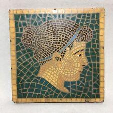 Art Deco Mosaic Portrait of a Woman - Encaustic Tile Co Indianapolis Art Pottery