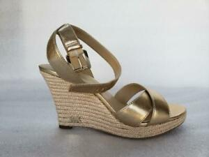 Michael Kors Kami Ankle Strap Wedges size: 7.5