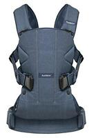 BABYBJORN Baby Front & Back Carrier One in Classic Denim/Midnight Blue, Cotton