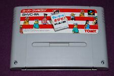 WALLY WO SAGASE Where's - Tomy - Jeu Réflexion Super Famicom Nintendo SNES JAP