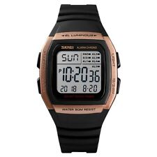 Skmei Digital Clear Display Watch 5 Alarms Stopwatch Countdown Rose Gold