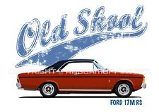 FORD TAUNUS 17M COUPE t-shirt. OLD SKOOL. CLASSIC CAR. MODIFIED. RETRO.