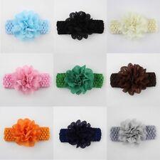 2x Baby Girls Flower Headband Soft Lace Elastic Band Hairband Hair Accessories