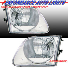 Set of Pair Euro Clear Chrome Housing Headlights for 1997.8-2003 Ford F-150