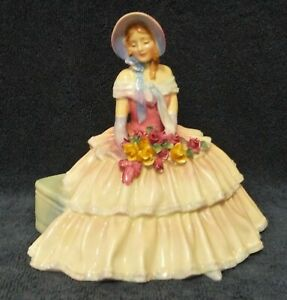 Day Dreams - Royal Doulton Retired Figurine - Old Model w/ Roses & Ribbon Bow