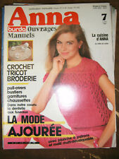 Anna Burda Ouvrages Manuels N°7 1984 crochet Tricot Broderie Dentelle Patrons