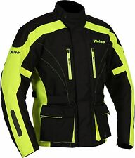 Weise Hornet II Mens Black Neon Yellow Textile Motorcycle Jacket New RRP £189.99