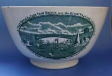Antique Original Earthenware Date-Lined Ceramic Bowls