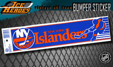NEW YORK ISLANDERS Vintage Bumper Sticker - Unused - NOS - NM