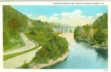 Everett, PA The Lincoln Highway along the Juniata River 1931
