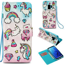 Colorful Fashion 3D Print Flip Magnetic PU Leather Wallet Stand Case For Samsung