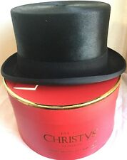 CHRISTYS' LONDON TOPPER TOP HAT 56CM S/M SUPER QUALITY Black Rabbit FUR FELT 7