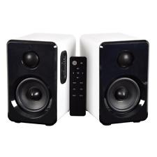 AV:Link Active Bluetooth Bookshelf Speakers HiFi Sound System White