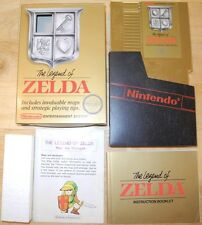 The Legend of ZELDA Early NES 1st Release COMPLETE in BOX! NON 'REV-A' RARE!