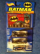 Hot Wheels 1/64 Diecast Batman 3 Pack Guide Exclusive Cars Batmobile Bane Joker