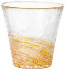 ADERIA Tsugaru Vidro Glassware Tumbler Yamabuki Yellow 260ml F-71448  JAPAN